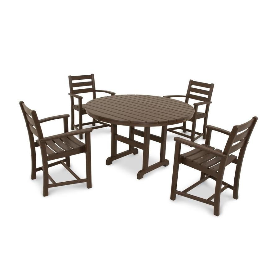 Shop Trex Outdoor Furniture Monterey Bay 5 Piece Vintage Lantern Plastic Dining Patio Dining Set