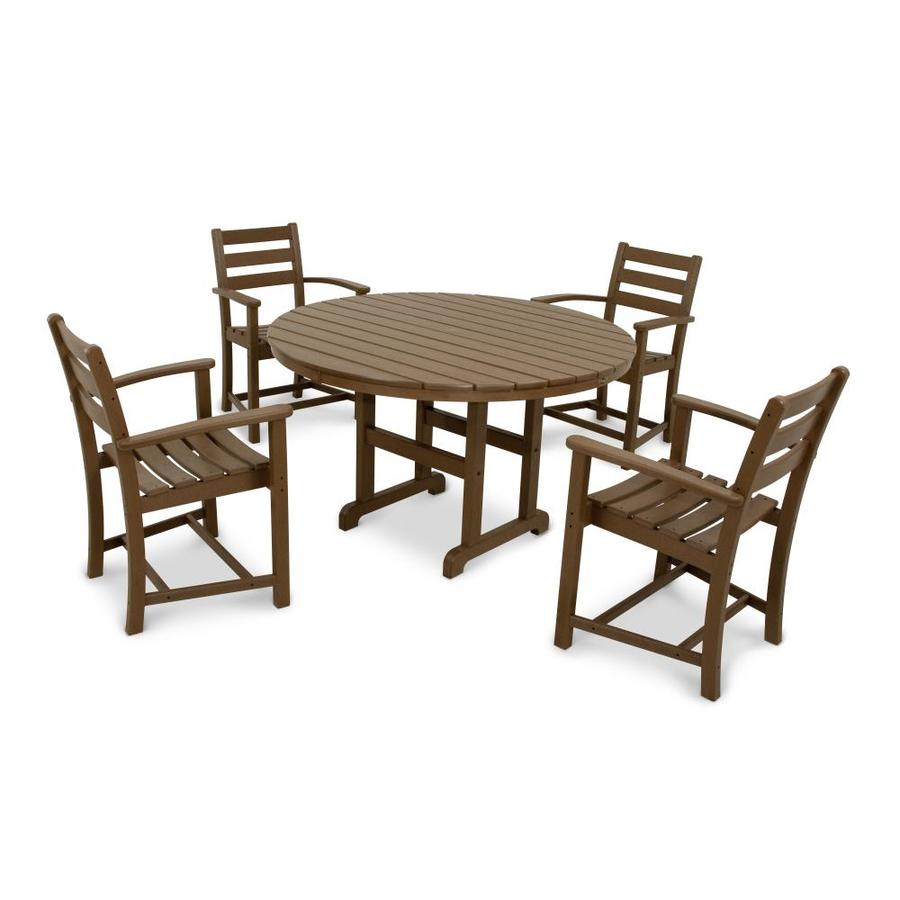 Shop Trex Outdoor Furniture Monterey Bay 5 Piece Tree House Plastic Dining Patio Dining Set At