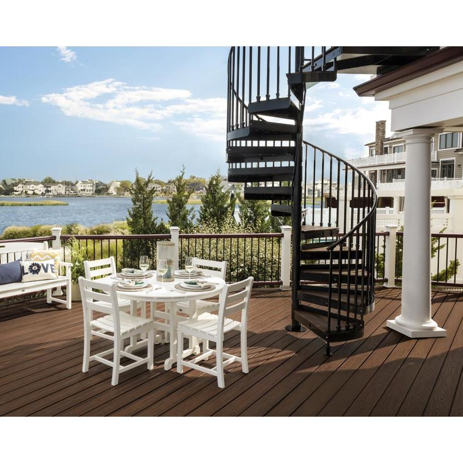 Trex Outdoor Furniture Monterey Bay 5-Piece Classic White Plastic Dining Patio Dining Set