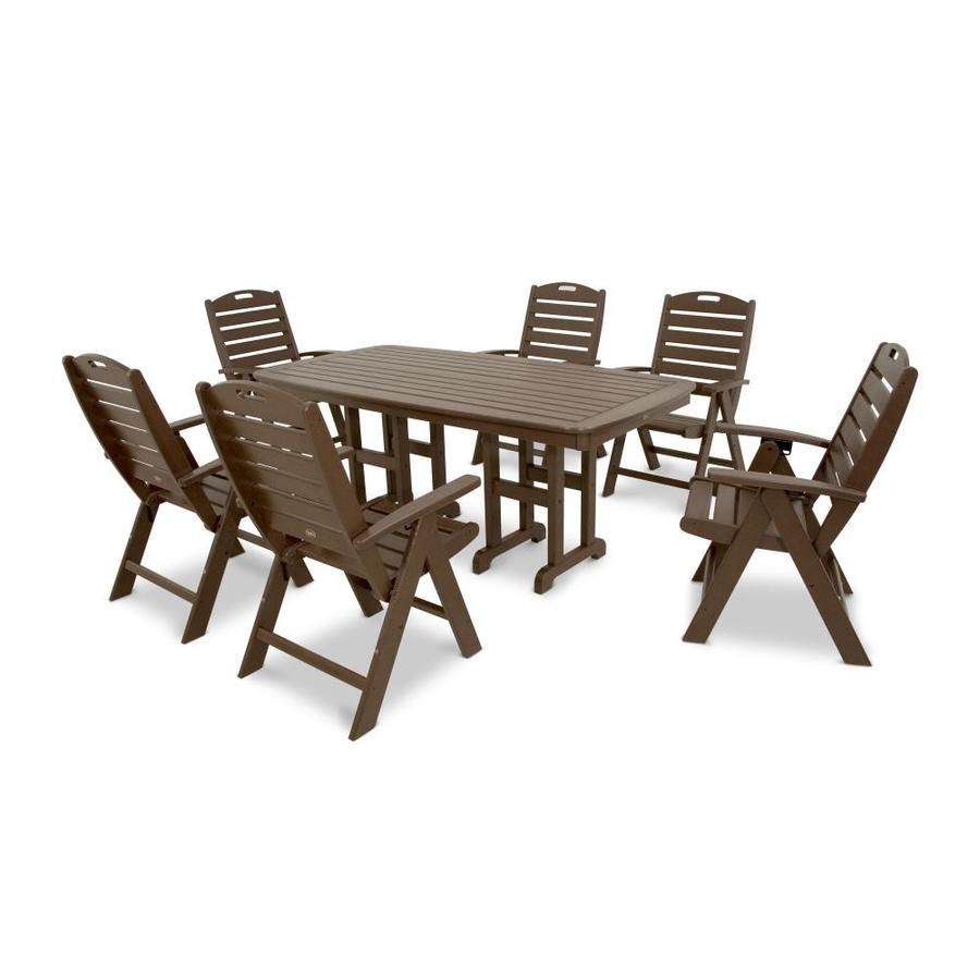 Trex Outdoor Furniture Yacht Club 7-Piece Vintage Lantern Plastic Dining Patio Dining Set