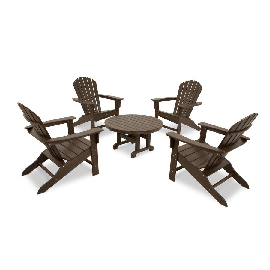 Trex Outdoor Furniture Cape Cod 5-Piece Plastic Patio Conversation Set