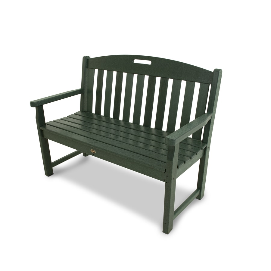 Trex Outdoor Furniture Yacht Club 47.5-in W x 24-in L Rainforest Canopy Plastic Patio Bench