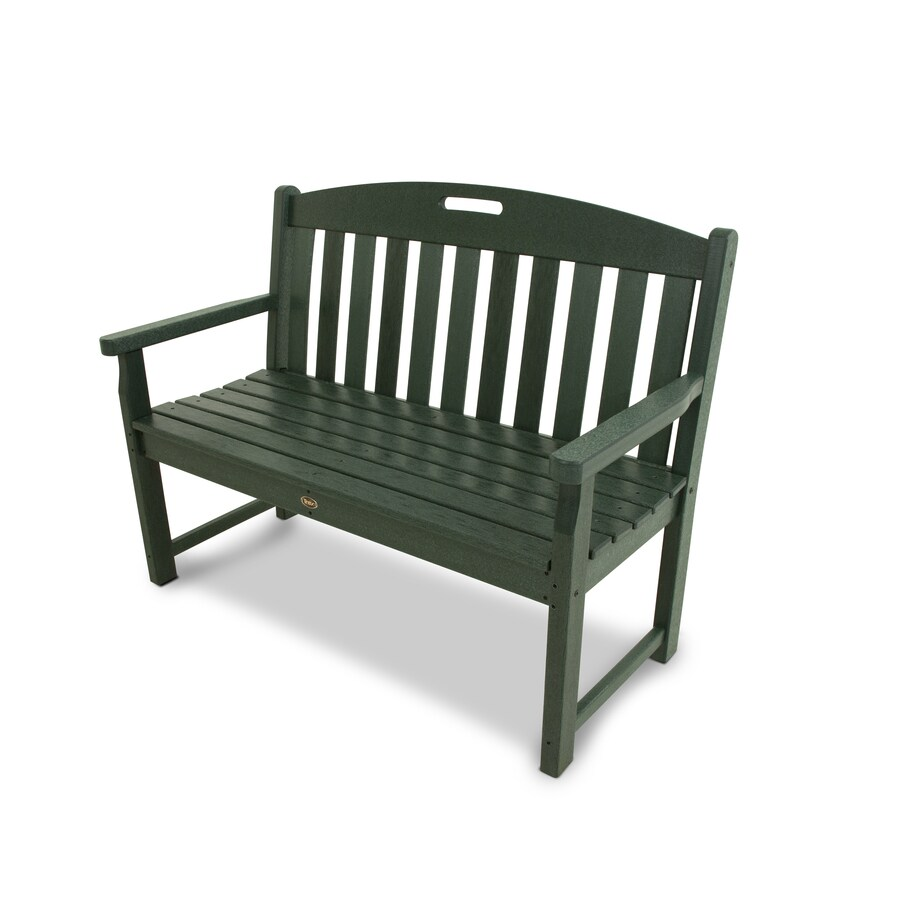 Trex Outdoor Furniture Yacht Club 47.5-in W x 24.25-in L Rainforest Canopy Plastic Patio Bench