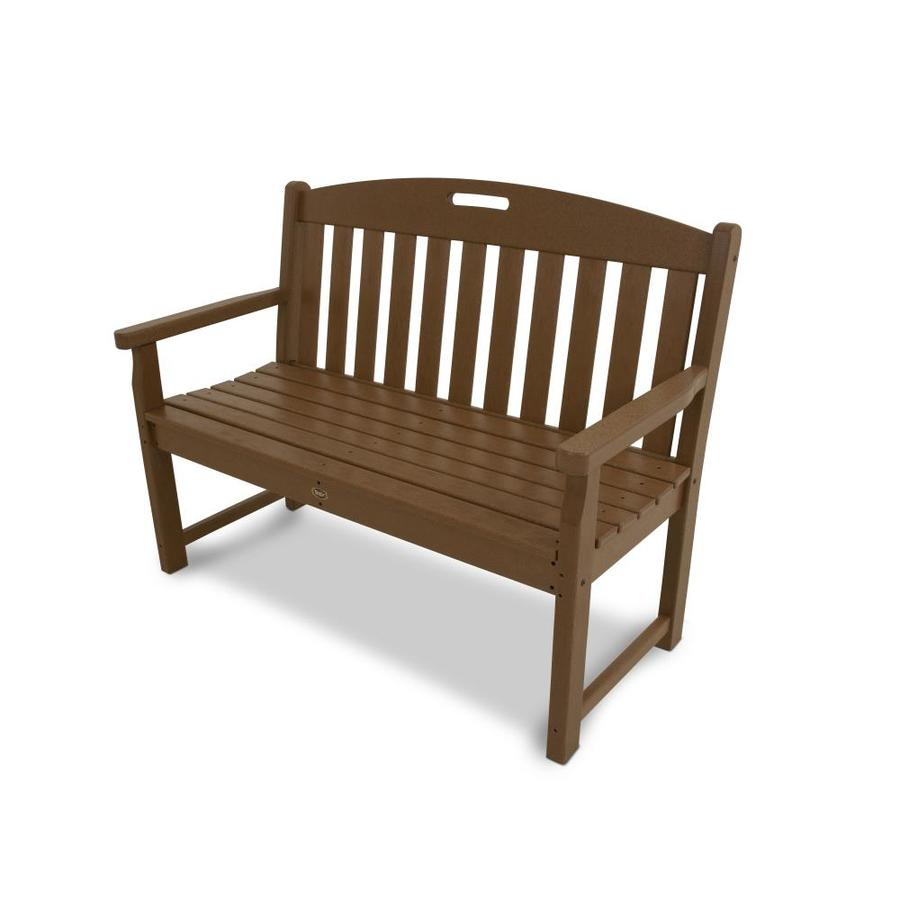 Trex Outdoor Furniture Yacht Club 47.5-in W x 24.25-in L Tree House Plastic Patio Bench