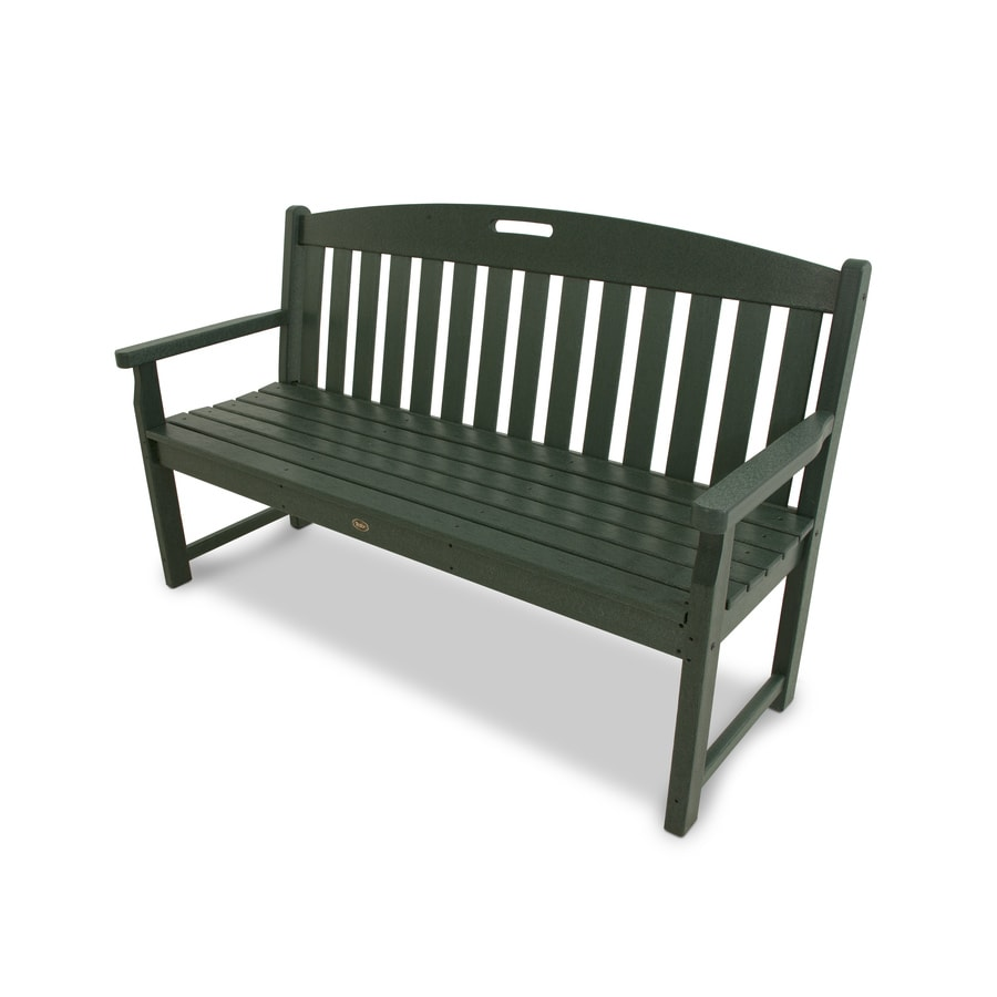 Trex Outdoor Furniture Yacht Club 59.5-in W x 24.25-in L Rainforest Canopy Plastic Patio Bench