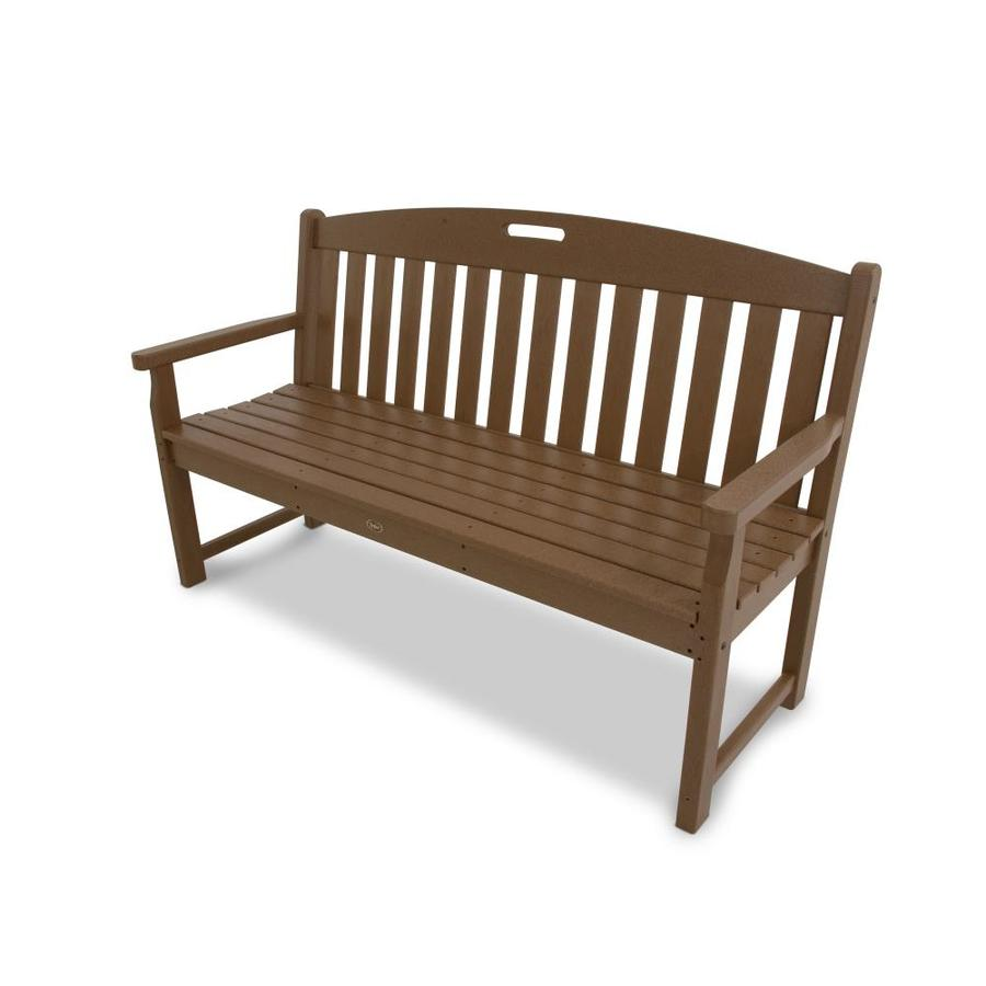Shop trex outdoor furniture yacht club 59 in w x 24 in l for Outdoor furniture benches