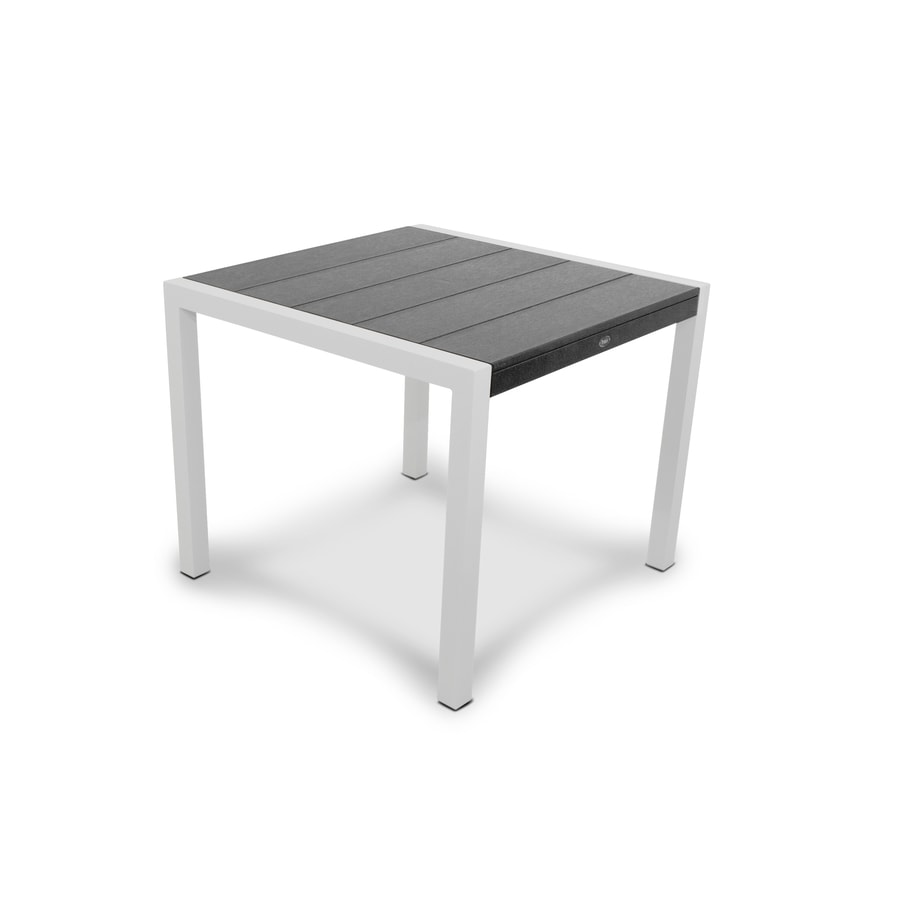 Trex Outdoor Furniture Surf City 35.18-in W x 35.18-in L Square Aluminum Dining Table