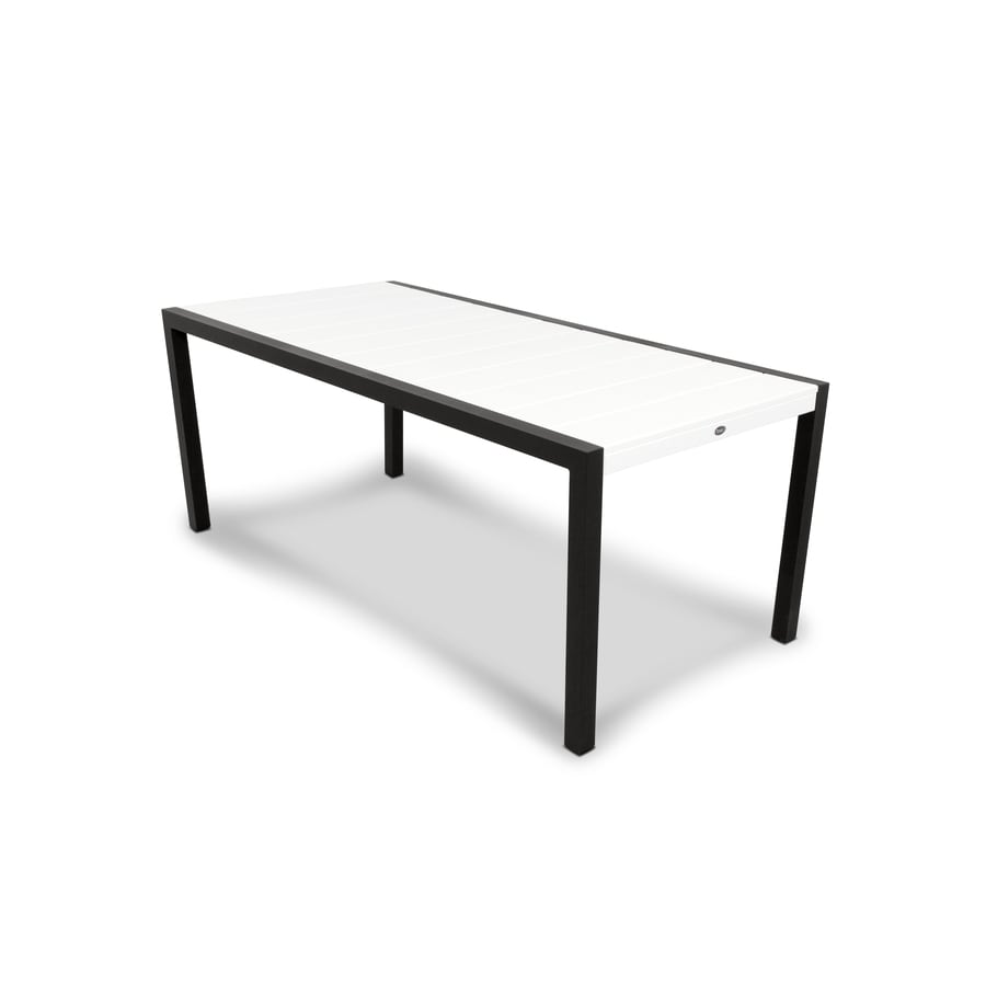 Trex Outdoor Furniture Surf City 35.18-in W x 73.12-in L Rectangle Aluminum Dining Table