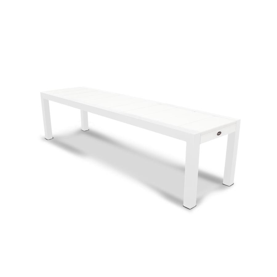 Trex Outdoor Furniture Surf City 68-in W x 18-in L Satin White/Classic White Plastic Patio Bench