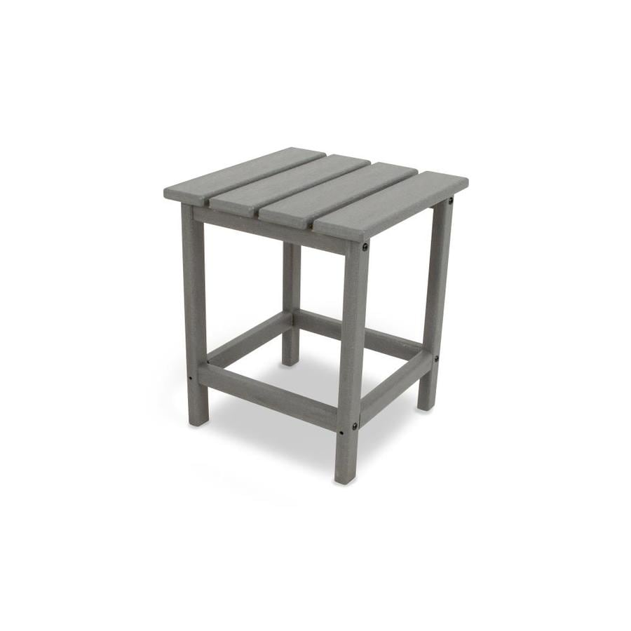 Polywood Long Island 15 In W X L Square Plastic End Table