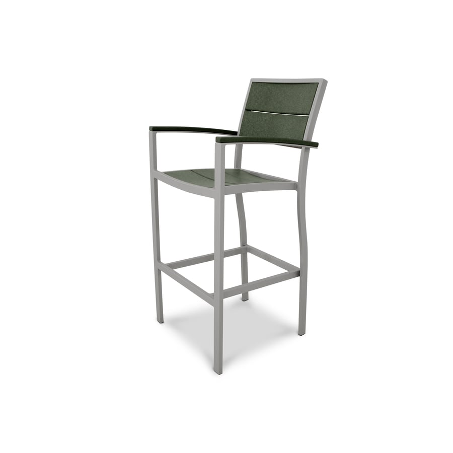 Trex Outdoor Furniture Surf City Textured Silver / Rainforest Canopy Plastic Patio Dining Chair