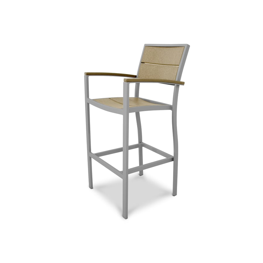 Trex Outdoor Furniture Surf City Textured Silver/Sand Castle Plastic Patio Dining Chair