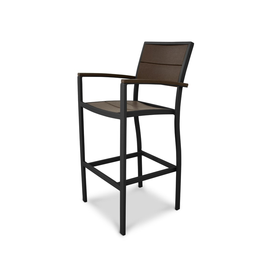 Trex Outdoor Furniture Surf City Textured Black/Vintage Lantern Plastic Patio Dining Chair