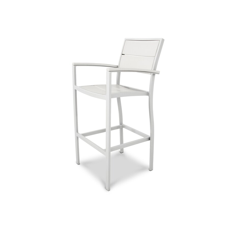 Trex Outdoor Furniture Surf City Satin White/Classic White Plastic Patio Dining Chair
