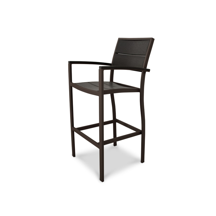 Trex Outdoor Furniture Surf City Textured Bronze/Charcoal Black Plastic Patio Dining Chair