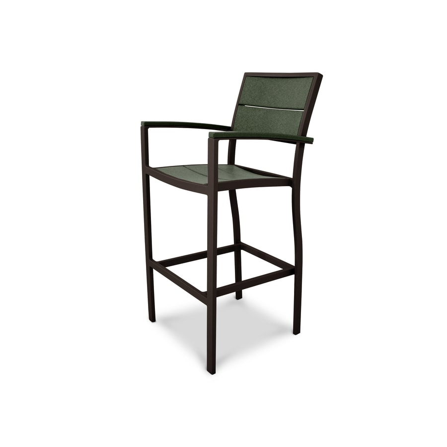 Trex Outdoor Furniture Surf City Textured Bronze / Rainforest Canopy Plastic Patio Dining Chair