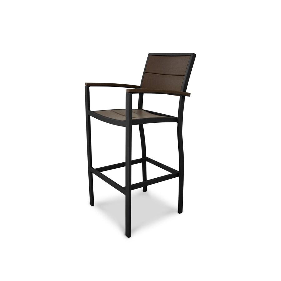 Trex Outdoor Furniture Surf City Textured Bronze / Vintage Lantern Plastic Patio Dining Chair