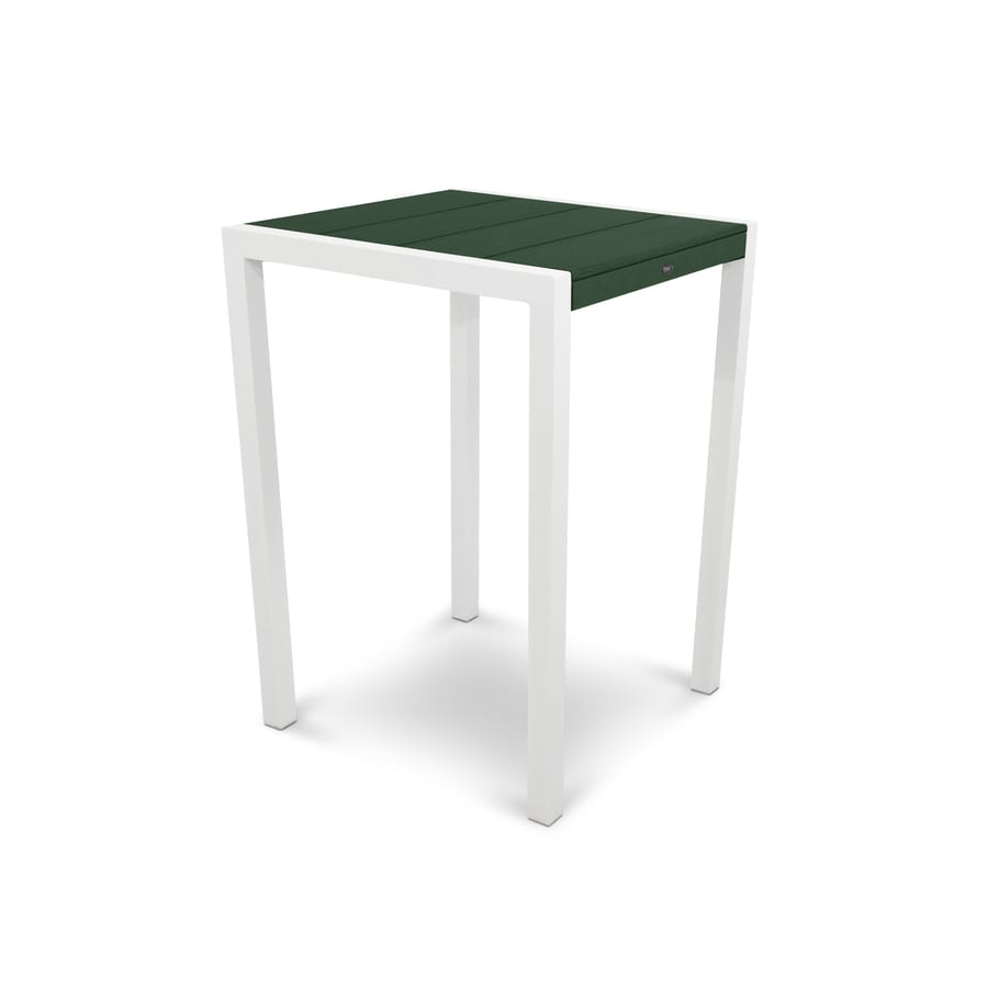 Trex Outdoor Furniture Surf City 29.75-in W x 29.75-in L Square Aluminum Bar Table