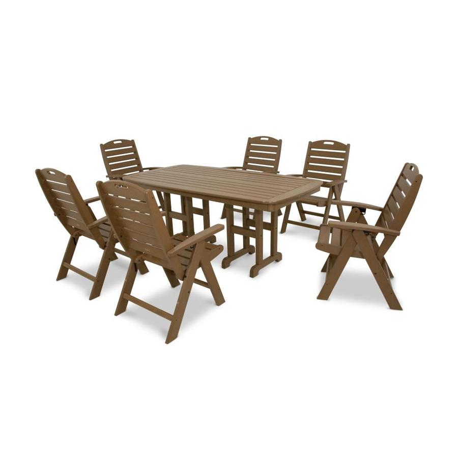Trex Outdoor Furniture Yacht Club 7-Piece Tree House Plastic Dining Patio Dining Set