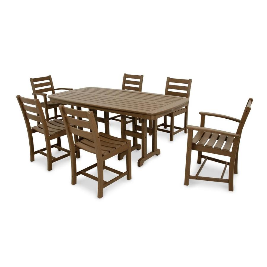 Trex Outdoor Furniture Monterey Bay 7 Piece Tree House Plastic Dining Patio Dining  Set