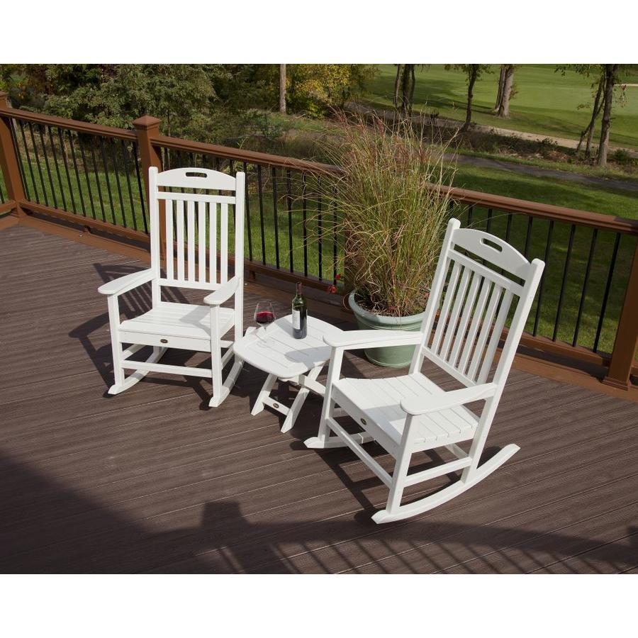 Shop Trex Outdoor Furniture Yacht Club 2 Piece Classic White Plastic Bistro Patio Dining Set At