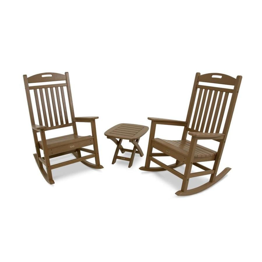 Trex Outdoor Furniture Yacht Club 2-Piece Tree House Plastic Bistro Patio Dining Set