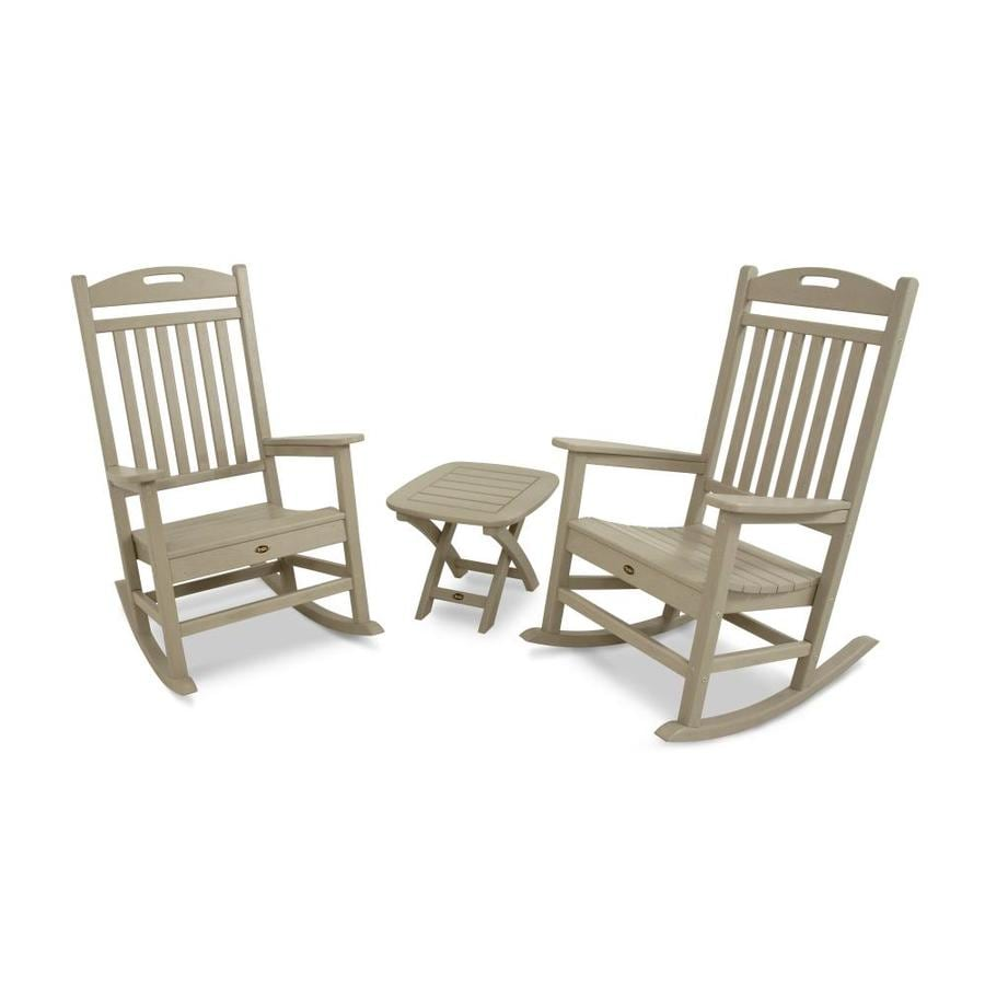 Trex Outdoor Furniture Yacht Club 2-Piece Sand Castle Plastic Bistro Patio Dining Set