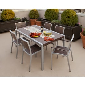 Trex Outdoor Furniture Surf City 7 Piece Plastic Frame Patio Dining Set