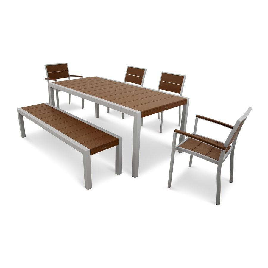 Trex Outdoor Furniture Surf City 6 Piece Plastic Frame Patio Dining Set