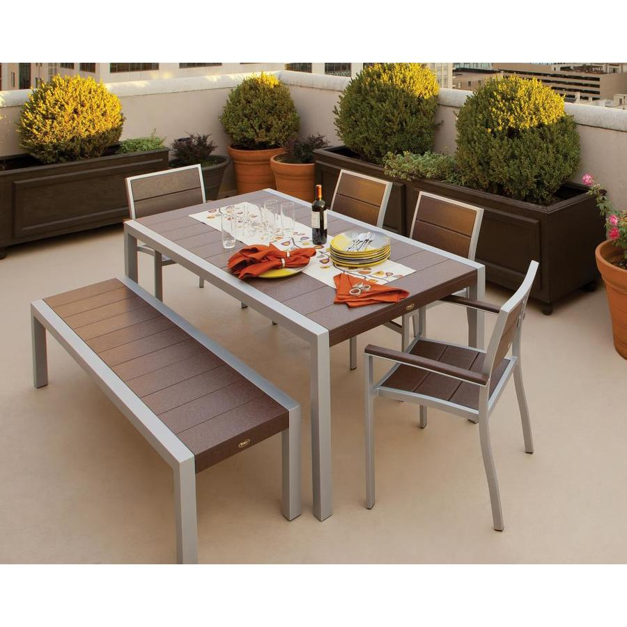 Shop Trex Outdoor Furniture Surf City 6 Piece Plastic Dining Patio Dining Set At