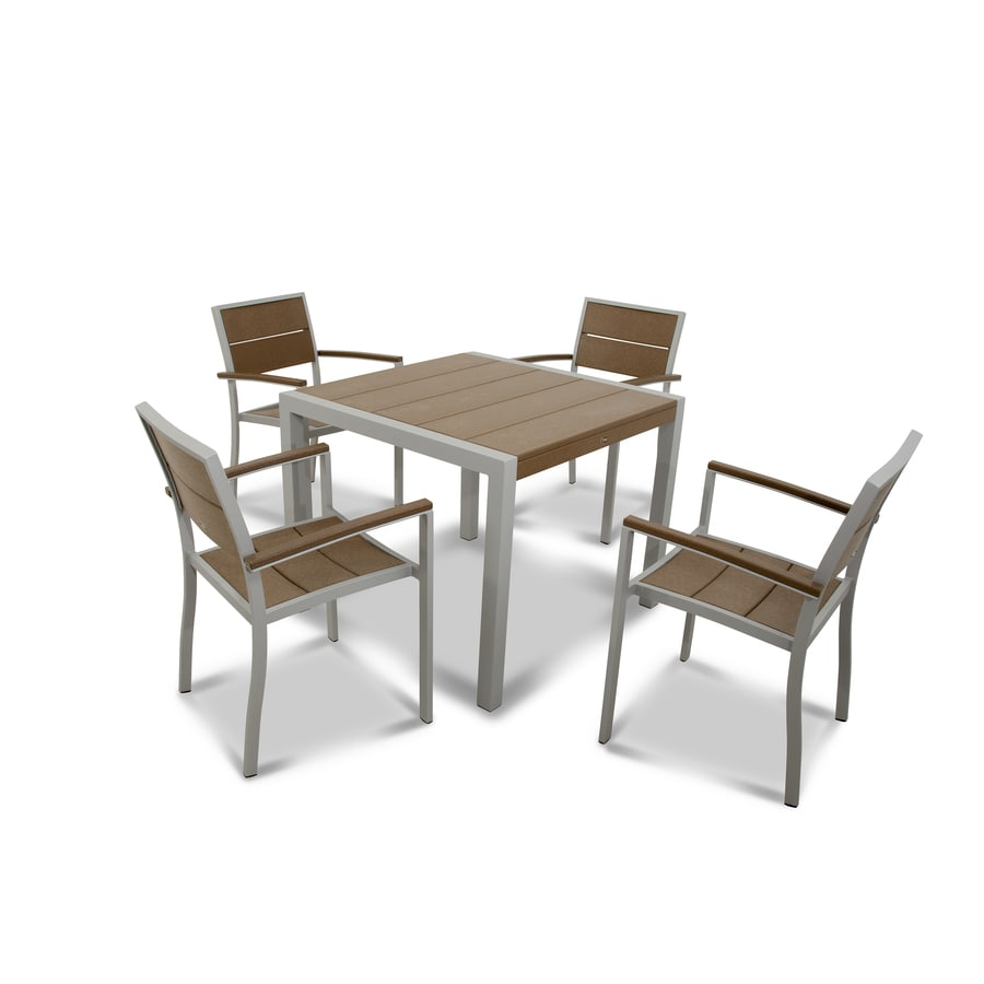 trex outdoor furniture surf city 5 piece textured silver tree house