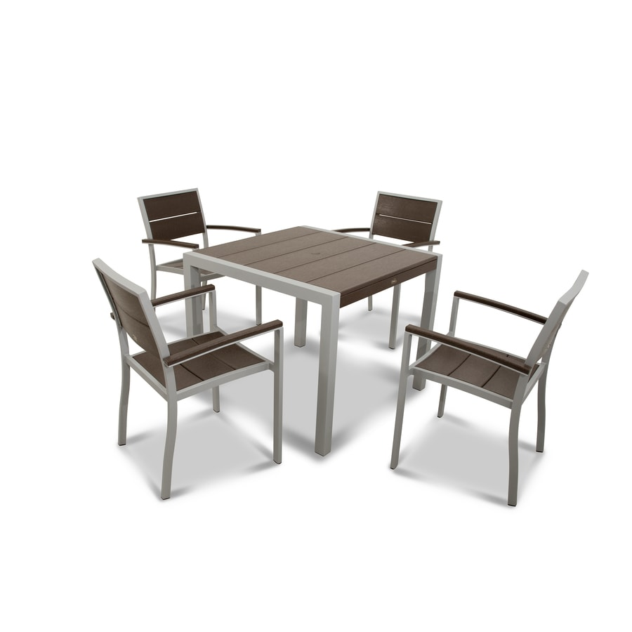 Shop Trex Outdoor Furniture Surf City 5 Piece Plastic Dining Patio Dining Set At