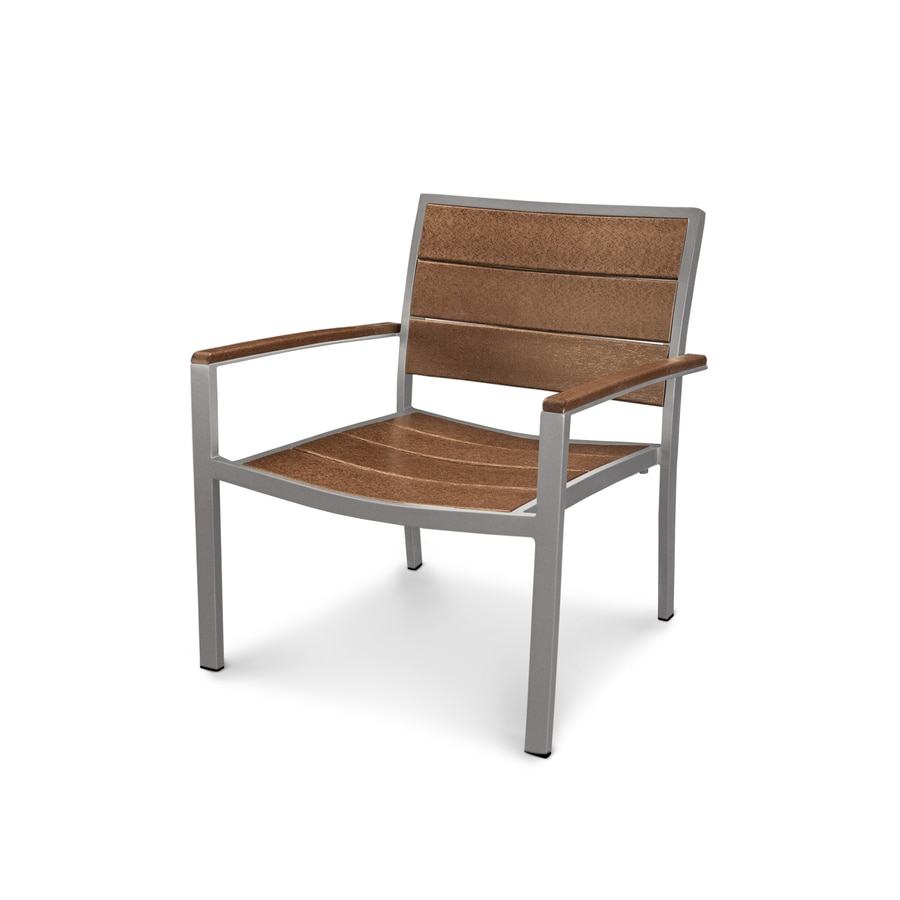 Trex Outdoor Furniture Surf City Textured Silver / Tree House Plastic Patio Dining Chair