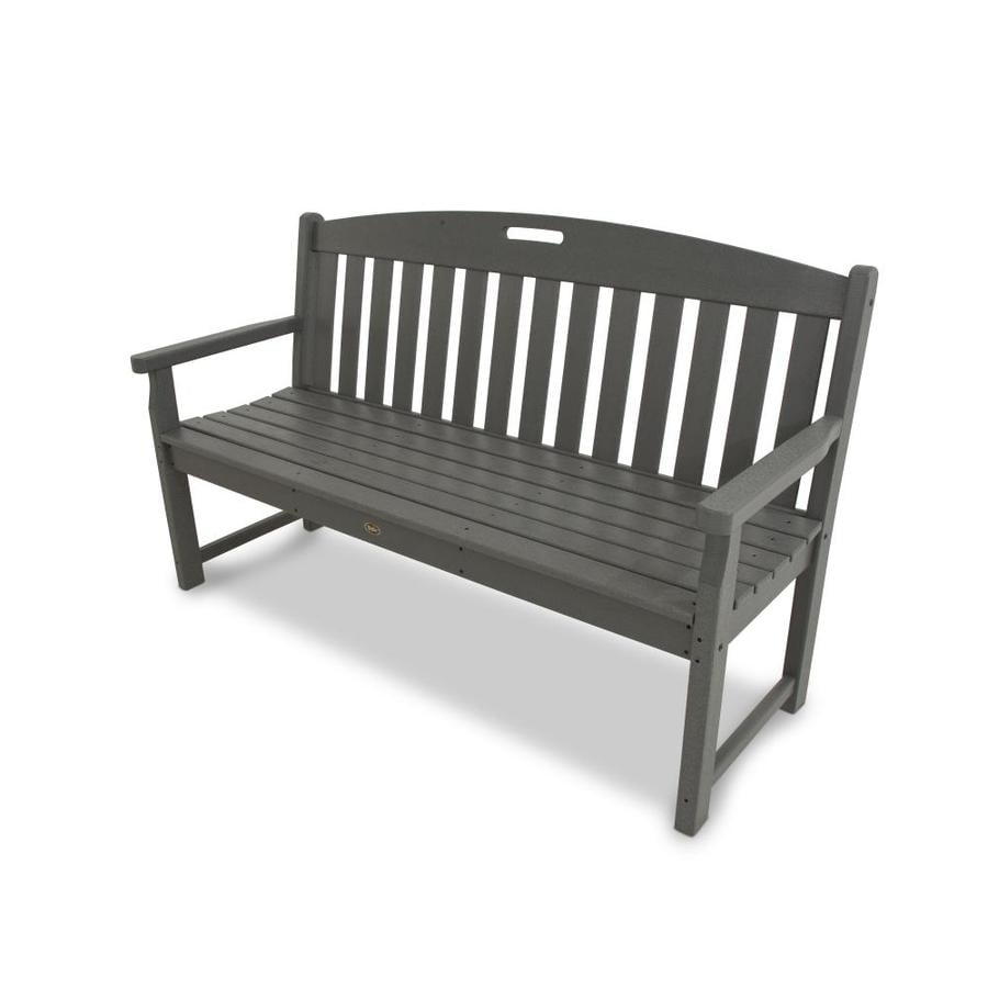 Stone benches lowes 28 images shop trex outdoor furniture yacht club 59 5 in w x 24 25 shop Lowes garden bench