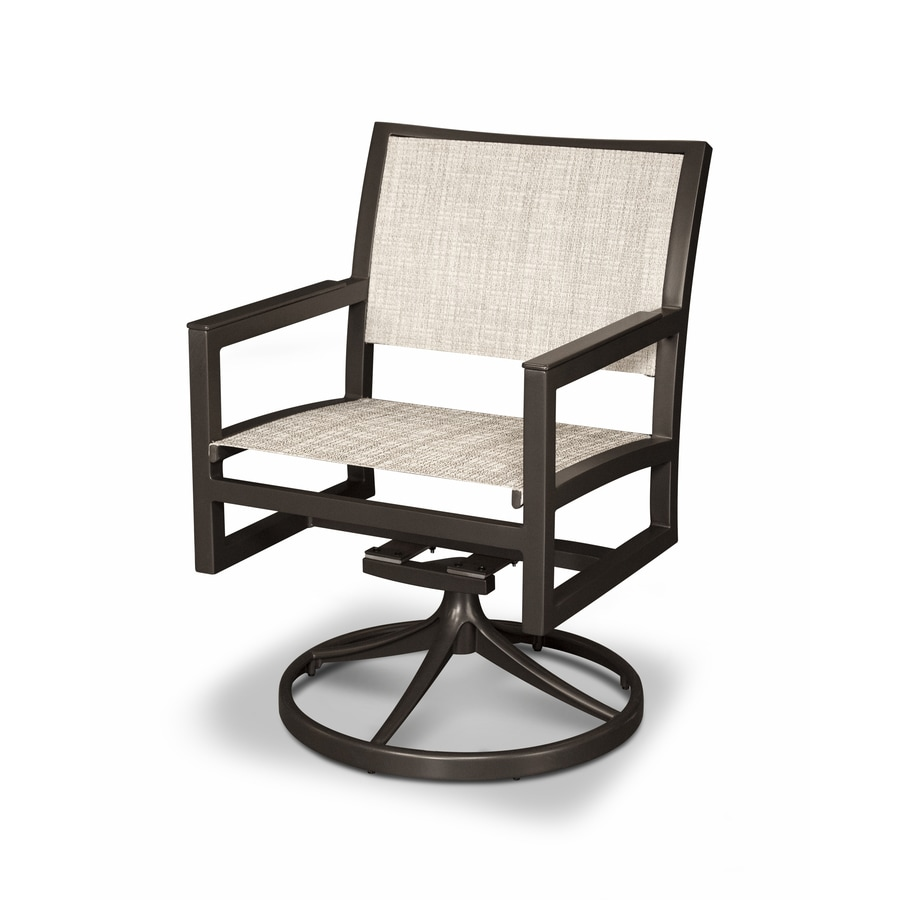 shop trex outdoor furniture parsons satin bronze driftwood plastic patio rocking chair at. Black Bedroom Furniture Sets. Home Design Ideas