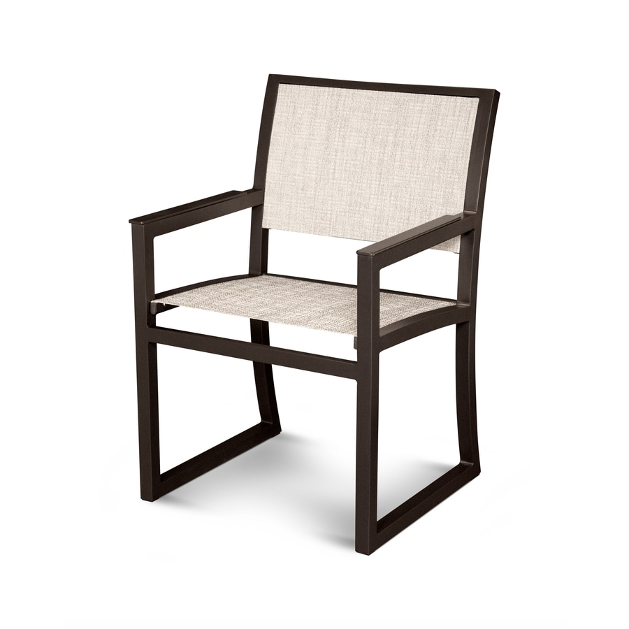Trex Outdoor Furniture Parsons Satin Bronze / Driftwood Plastic Patio Dining Chair