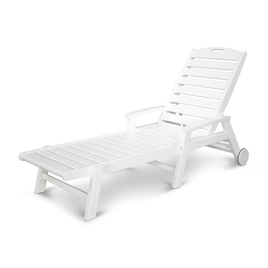 Trex Outdoor Furniture Yacht Club Cushion Classic White Plastic Loveseat