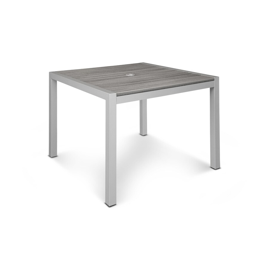 Trex Outdoor Furniture Parsons 38.88-in W x 39-in L Square Aluminum Dining Table