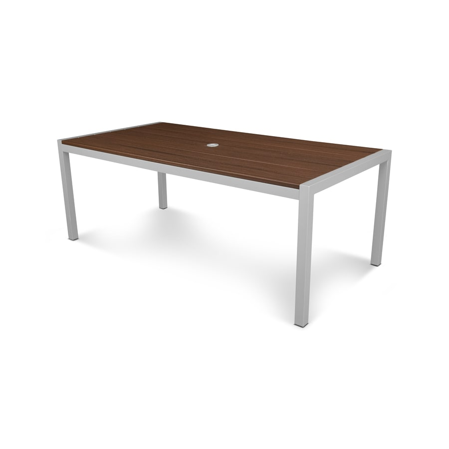 Trex Outdoor Furniture Parsons 77.88-in W x 39-in L Rectangle Aluminum Dining Table