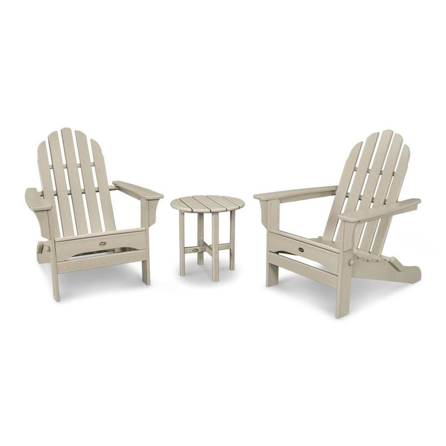 Trex Outdoor Furniture Cape Cod 3 Piece Plastic Patio Conversation Set
