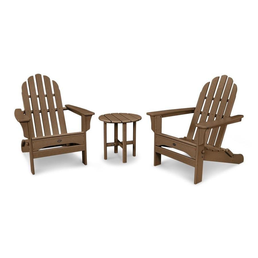 Shop trex outdoor furniture cape cod 3 piece plastic patio for Outdoor furniture 3 piece