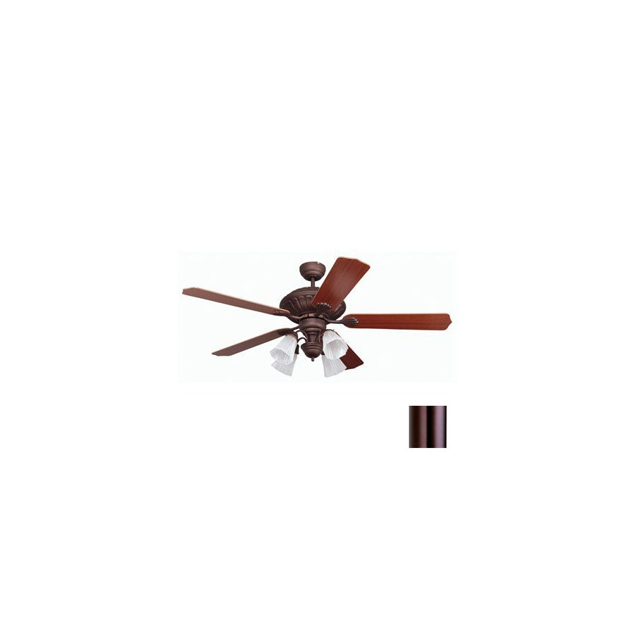 Yosemite Home Decor 52-in Melissa Oil-Rubbed Bronze Ceiling Fan with Light Kit and Remote