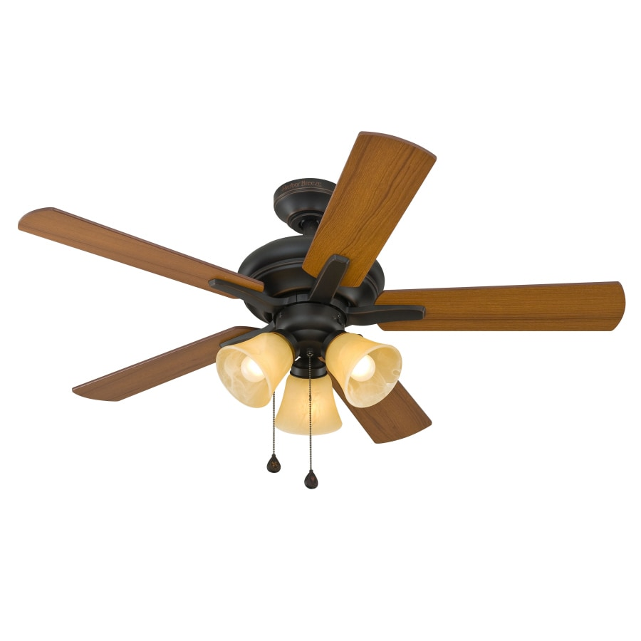 Harbor Breeze 42-in Aged Bronze Ceiling Fan with Light Kit