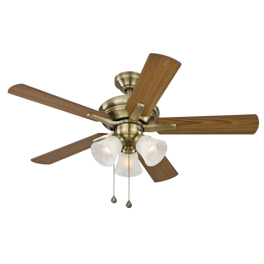 harbor breeze 42 in downrod mount ceiling fan with light. Black Bedroom Furniture Sets. Home Design Ideas