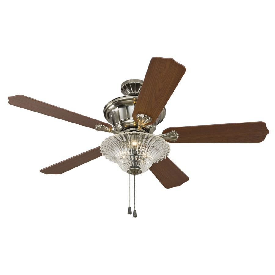 allen + roth 52-in Downrod Mount Indoor Ceiling Fan with Light Kit