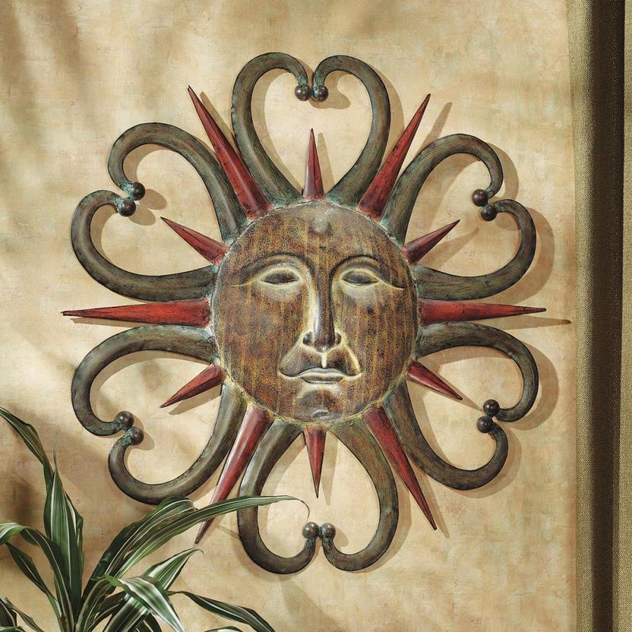 Design Toscano 28 In W X H Frameless Metal Dance Of The Sun Sculpture Wall Art