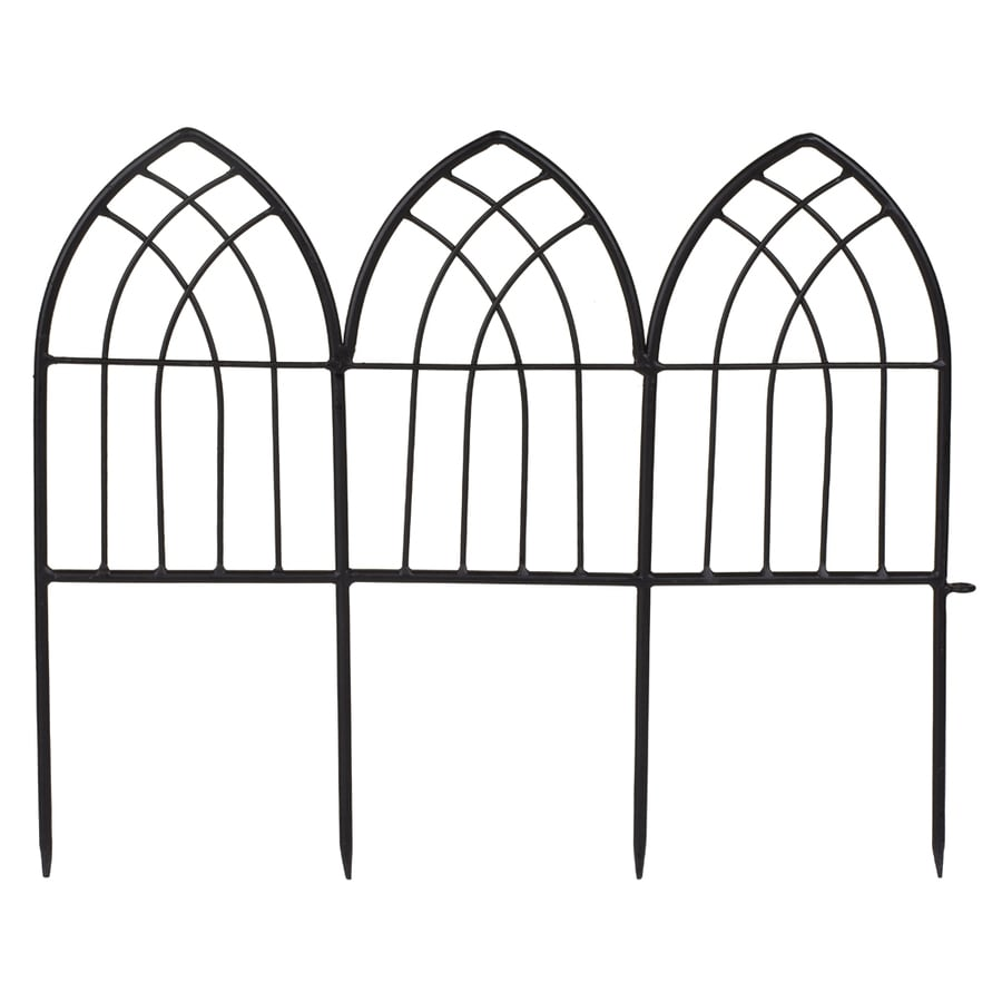 Garden Treasures 16.93 In H X 21.5 In L Gothic Arch Border Fence