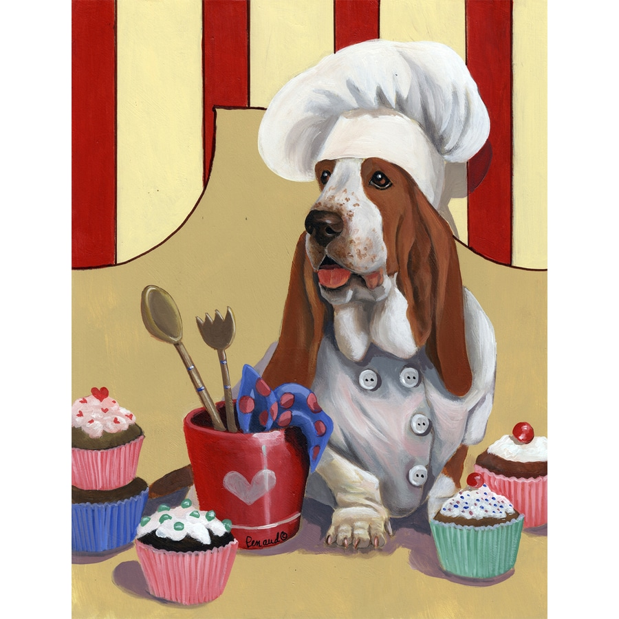 Precious Pet Paintings 1.5-ft x 1.04-ft Basset Hound Celebration Flag