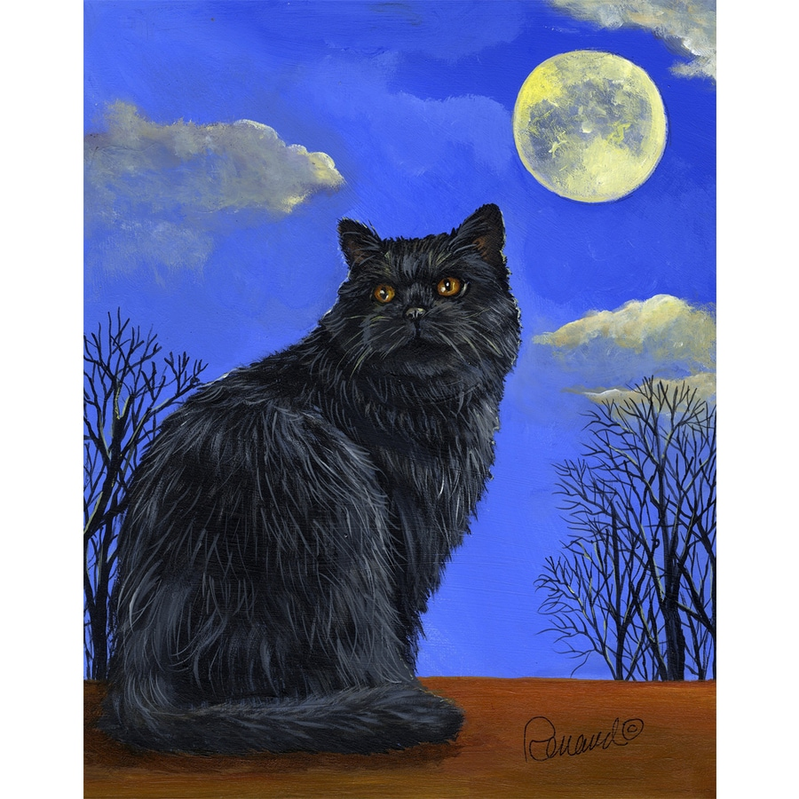 Precious Pet Paintings 1.5-ft x 1.04-ft Cat Halloween Flag