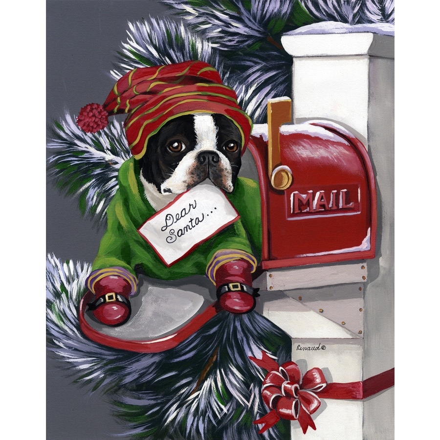 precious pet paintings 15 ft x 104 ft boston terrier christmas flag